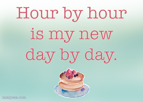 hour by hour day by day new lalalyssa blog graphic double chin diary pancakes